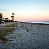 sunset at edisto beach north carolina