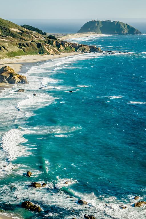 Big Sur california coastline on pacific ocean