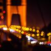golden gte bridge in san francisco at night