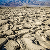 cracked and dry earth landscape in death valley