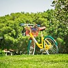 google bike parked near googleplex facility park
