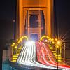 golden gate bridge evening commute traffic