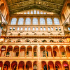 WASHINGTON, DC - OCTOBER 2017: Smithsonian National Building Museum in Washington, DC, as seen on October 2017. Completed in 1887, the building onced housed the former Pension Bureau and is now a museum of architecture and design.