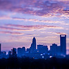 beautiful views of charlotte north crolina city skyline