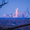 dusk and dawn over charlotte north carolina