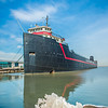 historic steam ship on lake erie in cleveland ohio port