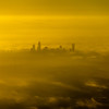 Aerial view in th emorning at sunrise over charlotte north carolina