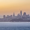 sunrise over san francisco city skyline