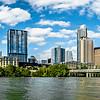 downtown view of austin texas skyline with blue sky