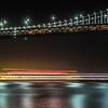 san francisco patry ferry casino near oakland bay bridge at night