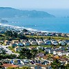 electic architecture around california coastline of the pacific ocean