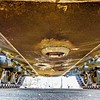 view underneath of an army tank