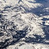 flying over colorado rocky mountains
