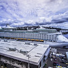 SEATTLE PIER 91 JUNE 2017 - seattle washington pier 91 with parked cruise ships leaving for a cruise to alaska