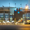 November, 2017, charlotte, nc, usa - night view of carolina panthers stadium in november
