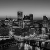 pittsburgh pennsylvania city skyline at sunrise