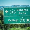 sonoma napa highway direction sign