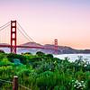 golden gate bridge san francisco california at sunset
