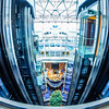 interior central lobby of a cruise ship