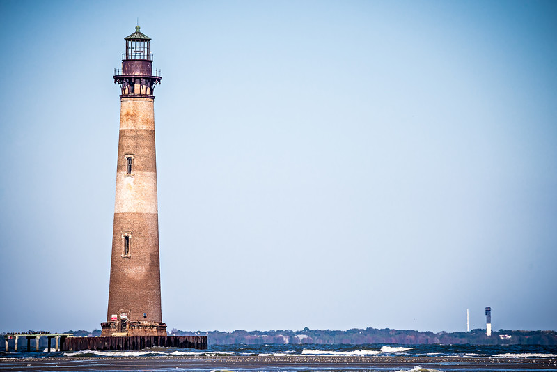 morris island lighthouse on a sunny day