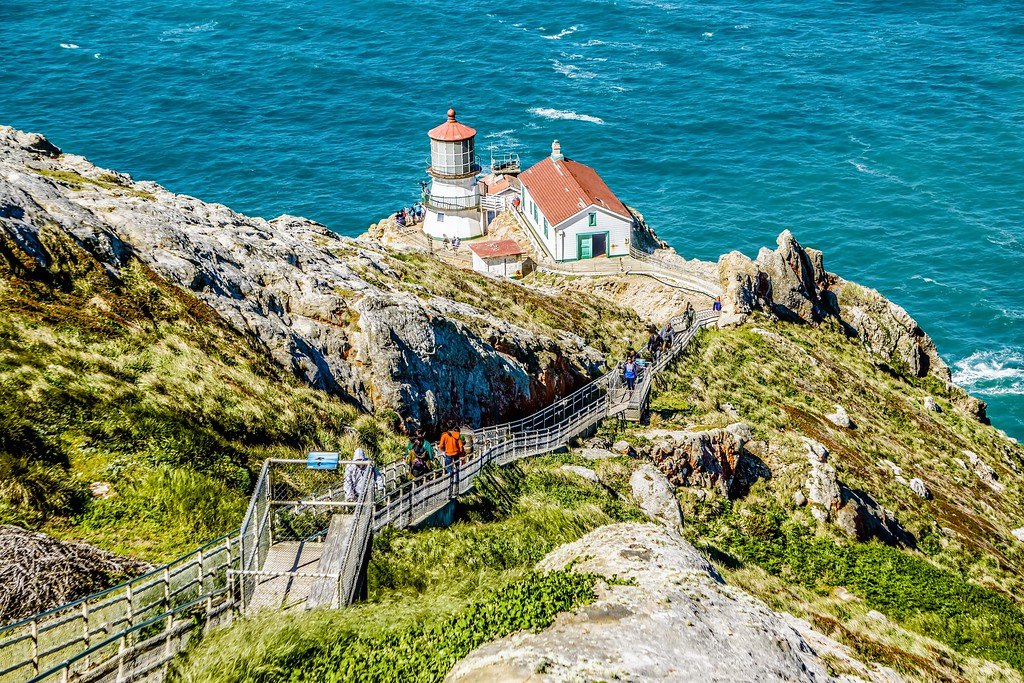 Point Reyes lighthouse and pacific coast