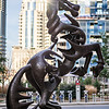 horse statue in uptown charlotte north carolina