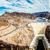 hoover dam nevada arizona state line areal view