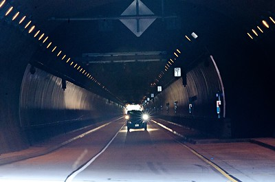 cabrillo highway tunnel near california pacific coast