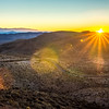 morning sunrise over death valley national park