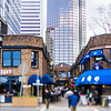 March 2017Charlotte NC -Busy latta arcade in downtown charlotte during lunch time