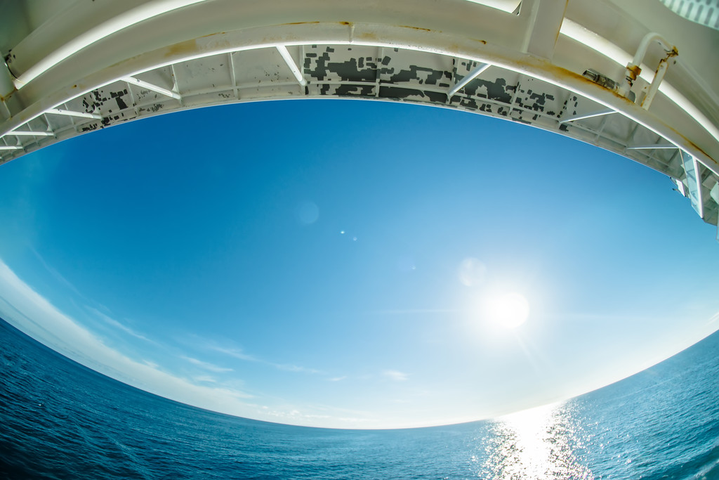 on cruise ship in alsaska bay part of pacific ocean