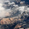 flting over grand canyon mountains in arizona near flagstaff