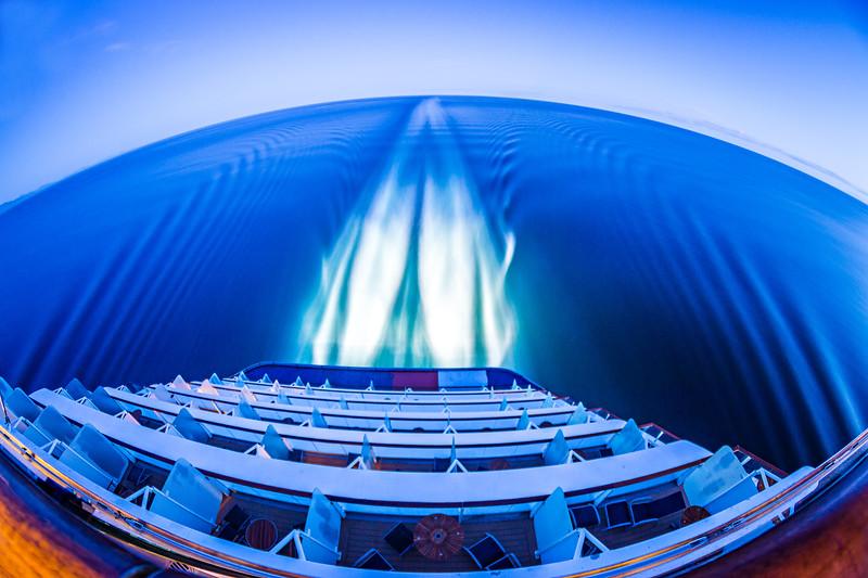 night scenes on luxury cruise ship