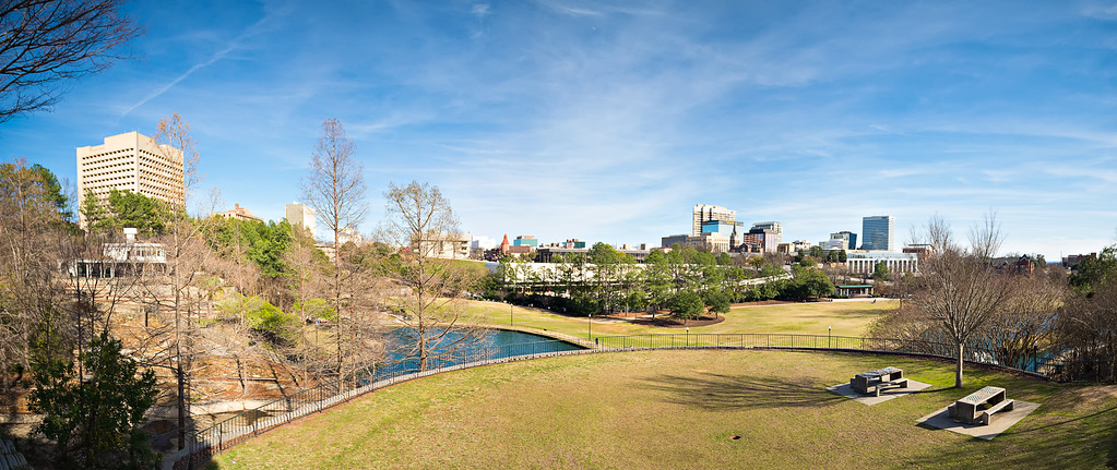 columbia south carolina city skyline view from an overlook