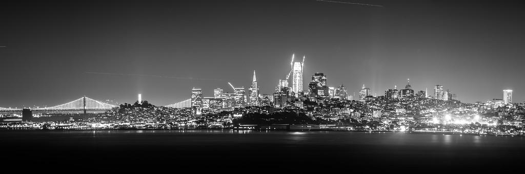 san francisco california cityscape skyline at night