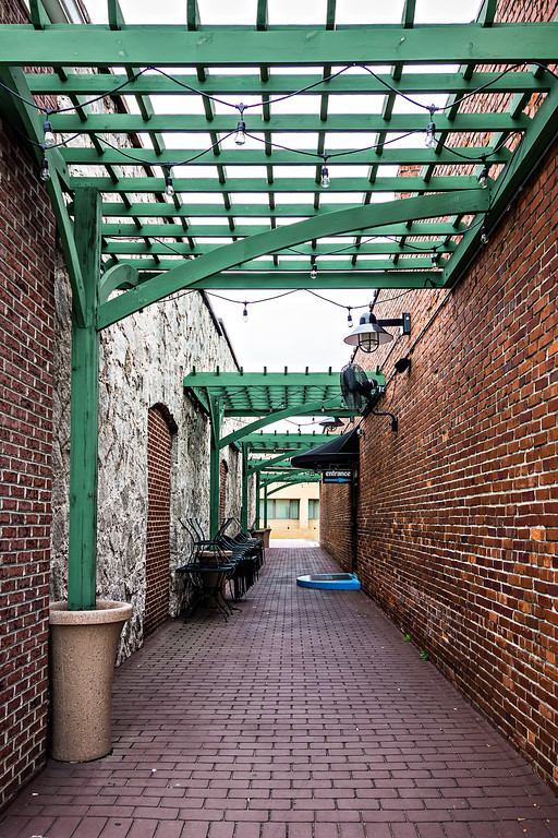 historic old town alley entrance