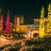 christmas season decorationsafter sunset at the gardens