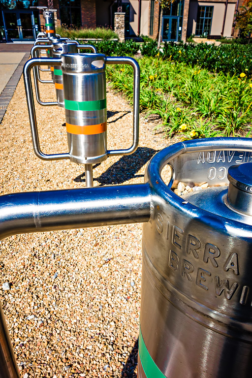 beer kegs at an brewing company