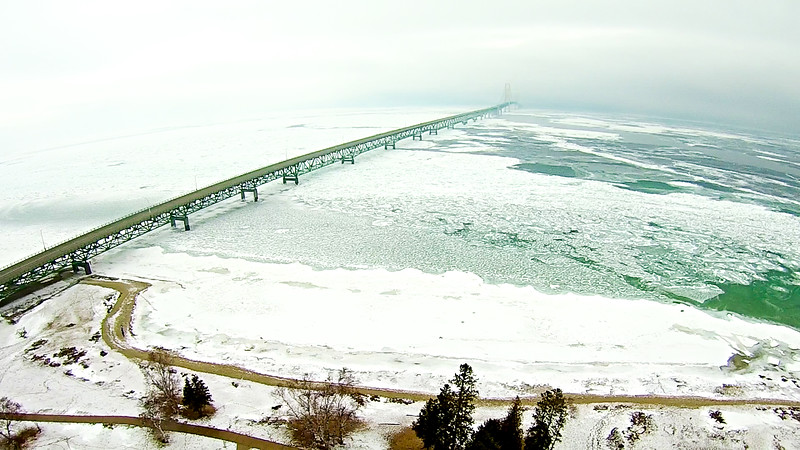 views around mackinaw city in spring