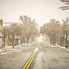 winter storm passing through york south carolina downtown