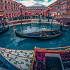 LAS VEGAS, NEVADA - November 2017: Sunny vintage tone view of Venetian Palazzo Resort Casino with Grand Canal. This luxury hotel opened in 1999