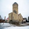 winter scenes near mackinac bridge and mackinsw city michigan