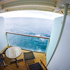 ocean view from cruise ship balcony room