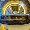 fancy luxurious hotel lobby in a big city