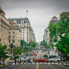 washington dc downtown streets and commute traffic