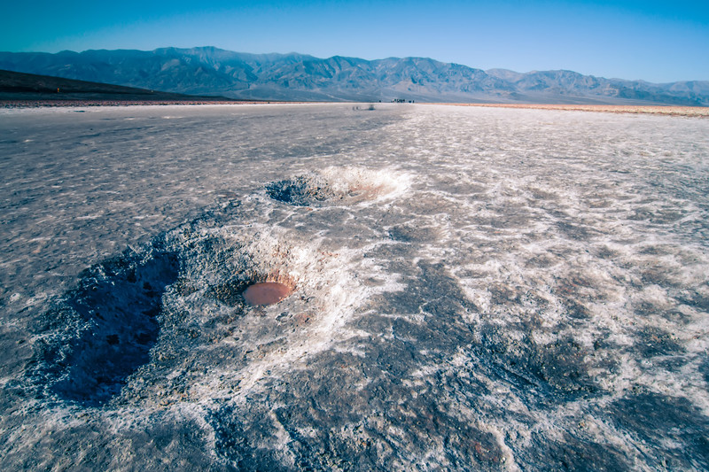 salt and mud formations in death valley national park