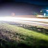 highway traffic lights with tilt lens effect
