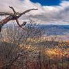 beautiful autumn landscape in north carolina mountains