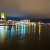 green bay wisconsin city downtown skyline at night