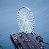 Great Ferris Wheel Puget Sound Seattle Washington